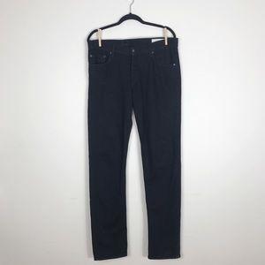 Rag and Bone RB Jay 23x Black Resin Skinny Jeans